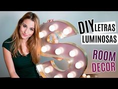 DIY letras luminosas