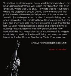 Matt Chandler speaks the truth