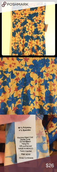 LLR XXS Super Slinky Maxi Skirt Super slinky floral maxi skirt. Gold/Blue/Purple tones. Wonderful drape! Smoke free home. LuLaRoe Skirts Maxi