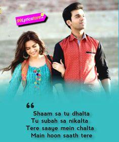 Love Song Quotes, Song Lyric Quotes, Love Songs, Song Lyrics, Hindi Quotes, Quotations, Kriti Kharbanda, Bollywood Songs, Mp3 Song Download