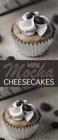 Mini Mocha Cheesecakes