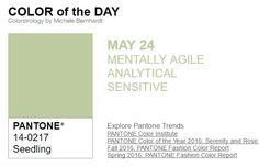 ...y el color de hoy es Planta de Semillero, un color ágil, analítico, sensible. Más info en http://www.pyma.com/tutoriales-y-trucos/y-los-colores-pantone-de-esta-semana-sonsemana-del-23-al-29-de-mayo/