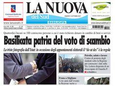 """Immagine tratta da:""""La Nuova del Sud"""" prima pagina del giorno 13/10/2017."""