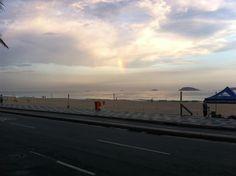 Arco-íris, pós chuva @ praia do Leblon, Rio de Janeiro