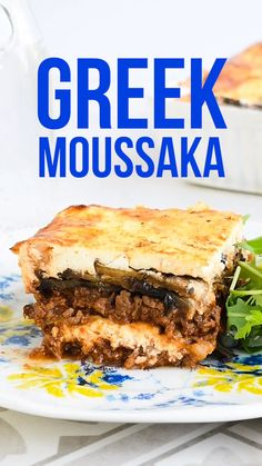 Love Greek Moussaka but find it a little heavy? Try my slimmed down Moussaka Recipe which is lighter in calories, incredibly delicious and still tastes authentic. This Slimming World Moussaka is pract Moussaka Vegan, Slimming World Moussaka, Ancient Greek Food, Janta Low Carb, Appetizer Recipes, Dessert Recipes, Healthy Greek Recipes, Desert Recipes, Vegetarian