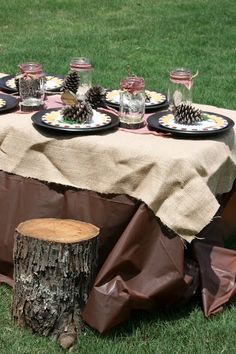A Camping Birthday Party - so cute