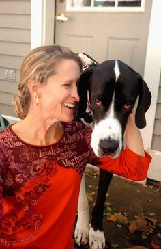 Renee LeVerrier & her Great Dane, SirThomas. Join them today for a live Q&A on explore.org