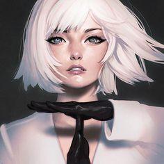 Illustrator: Ilya Kuvshinov #girl #face #realism