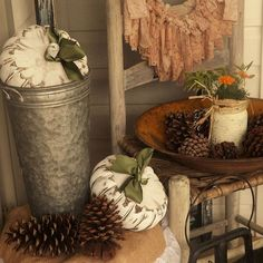Painted Thrifted Pumpkins Take Center Stage on the Fall Stoop!