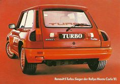 Renault 5 Turbo postcard