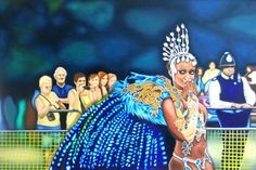 Carnival Kiss by Andrea Tyrimos Original oil painting on canvas. Notting Hill Carnival, London Art, Affordable Art, Oil Painting On Canvas, Original Art, Kiss, Princess Zelda, Colours, The Originals
