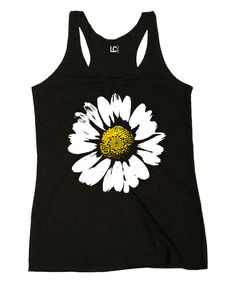 Look at this Black Daisy Racerback Tank on #zulily today!