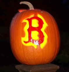 This year's jack-o-lanterns can feature a Boston Red Sox theme!
