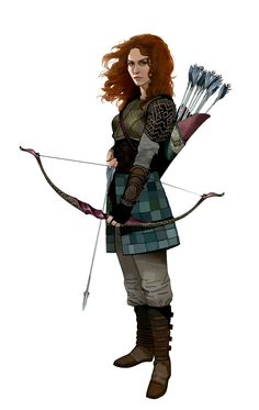 Female Human Archer - Pathfinder PFRPG DND D&D d20 fantasy
