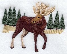Woodland Moose design (A5944) from www.Emblibrary.com