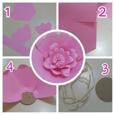 3d paper flower tutorial from grey luster girl silhoeutte flowers ribbon flower photo placemats stationery shop 3 year olds ideas party flower arrangements handmade crafts paper roses paper fans large paper mightylinksfo