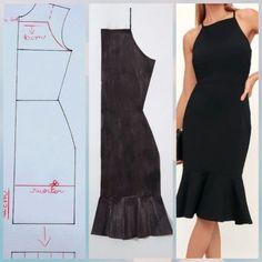 Pin by タケダ on ダンス衣装 Fashion Sewing, Diy Fashion, Fashion Dresses, Moda Fashion, Costura Fashion, Dress Sewing Patterns, Clothing Patterns, Sewing Courses, Frilly Dresses