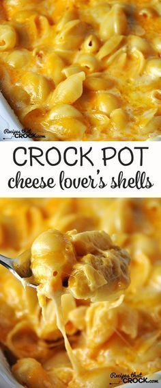 This Cheese Lover's Crock Pot Shells is so simple and has an amazing flavor!