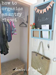Tackle the dreaded entry closet with this fantastic redo via 12 O 8.