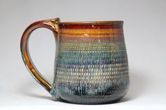 20oz stoneware pottery mug by DrostePottery on Etsy