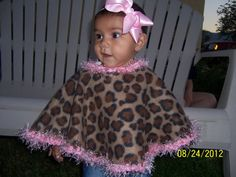 Baby Girl Fleece Poncho Hot Pink by mariahcreations on Etsy, $15.99