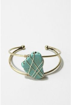 Delicate Turquoise Cuff Bracelet, $20.00 at Urban Outfitters