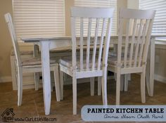 painted kitchen tables and chairs ideas | Painting the Kitchen Table – Annie Sloan Chalk Paint