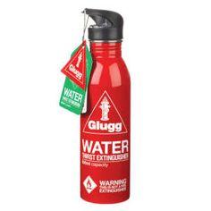 Glugg Feuerlöscher Trinkflasche, rot: Image 1