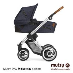 Perfect for newborns, the Mutsy Evo Urban Nomad Bassinet easily attaches to the Evo modular stroller frame to create a stylish modern pram. Lightweight and sleek design features a padded interior, zippered side vents, adjustable canopy and mosquito net. Mutsy Evo, Baby Laden, Futur Parents, Travel Systems For Baby, Buggy, Modern Kids, Urban, Kids Store, Baby Accessories