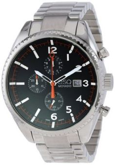 Relógio ESQ Movado Men's 07301427 esq CATALYST tm Black Dial Chronograph Watch #Relogio #Movado