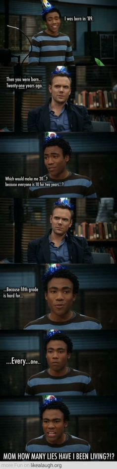 I haven't watched Community much but this is funny