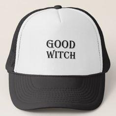 #Good Witch Trucker Hat - #halloween #hats #party #ideas #idea #accessories