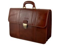 GIULIO BARCA Professional Briefcase with 3 compartments
