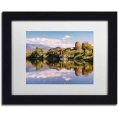 Trademark Fine Art 'Pastoral Reflection' Canvas Art by Michael Blanchette Photography, White Matte, Black Frame, Size: 11 x 14, Assorted