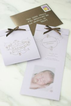 DIY Birth Announcement with FREE downloads | Pretty Prudent