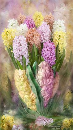 Hyacinth In Hyacinth Vase 2 By Carol Cavalaris Hyacinth Flower of exquisite fragrance In pastel shades Blooming with such Delicate grace In a hyacinth vase. Hyacinth In Hyacinth Vase 2 prose by Carol Cavalaris Draw Tutorial, Language Of Flowers, Arte Floral, Botanical Art, Flower Vases, Hyacinth Flowers, Artist Art, Vintage Flowers, Love Art