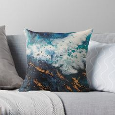 """""""Tropical Thunder """" Throw Pillow by Eibonart Framed Prints, Canvas Prints, Art Prints, Free Stickers, Designer Throw Pillows, Pillow Design, Thunder, Art Boards, Iphone Cases"""