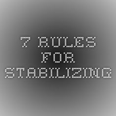 7 Rules For Stabilizing; Backers and Toppers to stabilize your fabric during embroidery are called 'stabilizers'.