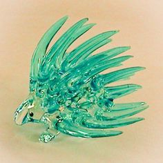 Hand Blown Glass Blue Porcupine