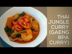 My husband loves Thai food. He loves my Tom Yum Goong the most. Jungle Curry, Thai Recipes, Thai Red Curry, Healthy Eating, Dishes, Youtube, Food, Meal, Healthy Diet Foods