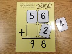 Math Reasoning with double-digit numbers addition and subtraction. Great for a math center for 2nd and 3rd grade.