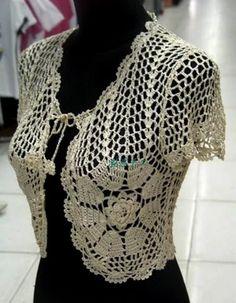 Crochet Bolero Pattern, Crochet Motifs, Crochet Patterns, Crochet Jacket, Crochet Poncho, Crochet Cardigan, Crochet Shrugs, Crochet Summer Tops, Crochet Fashion