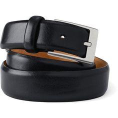 Lands' End Men's Feather Edge Dress Belt (3.085 RUB) ❤ liked on Polyvore featuring men's fashion, men's accessories, men's belts, black, mens wide leather belts, mens wide belts, mens leather accessories, mens belts and mens leather belts