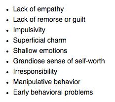 Attributes of a psychopath