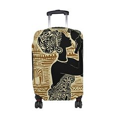 Cute Colorful Stripes Print Luggage Protector Travel Luggage Cover Trolley Case Protective Cover Fits 18-32 Inch