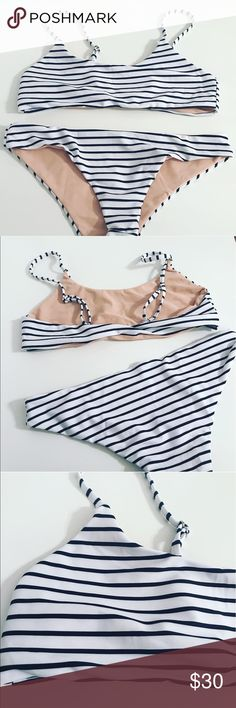 Black and white striped bikini Black and White stripped bikini Swim Bikinis
