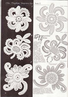 irish crochet motifs (diagrams only)
