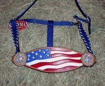 Red, White, and Blue Patriotic US Flag Horse Halter