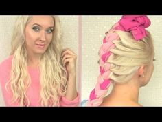 Beach waves overnight with a scarf braid How to curl your hair with clip-in extensions without heat