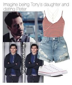"""Imagine being Tony's daughter and dating Peter"" by perrie26 on Polyvore featuring Topshop, 3x1 and Converse"